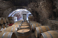 barrel aging cellar dom m picard chateau de ch-m chassagne-montrachet cote de beaune burgundy france