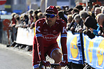 Rick Zabel (GER) Team Katusha makes his way to sign on before the start of Gent-Wevelgem in Flanders Fields 2017, running 249km from Denieze to Wevelgem, Flanders, Belgium. 26th March 2017.<br /> Picture: Eoin Clarke | Cyclefile<br /> <br /> <br /> All photos usage must carry mandatory copyright credit (&copy; Cyclefile | Eoin Clarke)