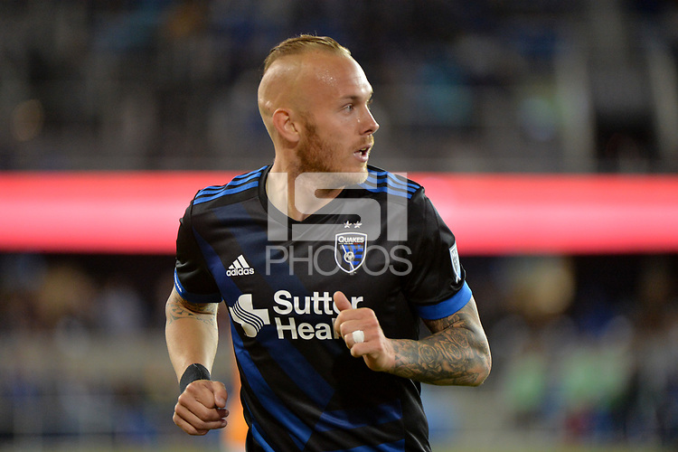 San Jose, CA - Saturday April 14, 2018: Magnus Eriksson during a Major League Soccer (MLS) match between the San Jose Earthquakes and the Houston Dynamo at Avaya Stadium.