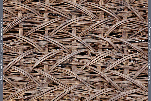 Wicker fence close-up texture background Eastern Europe Ukraine
