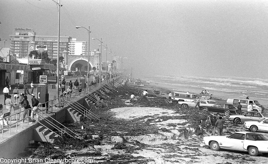 A view of Daytona Beach after a storm left a mess in December 1984. (Photo by Brian Cleary/www.bcpix.com)