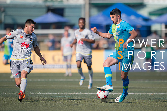 Wellington Phoenix (in grey) vs Bayer Leverkusen (in blue), during their Main Tournament Plate Final match, part of the HKFC Citi Soccer Sevens 2017 on 28 May 2017 at the Hong Kong Football Club, Hong Kong, China. Photo by Marcio Rodrigo Machado / Power Sport Images