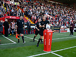 Referee Stephen Martin collects the match ball during the English Championship League match at Bramall Lane Stadium, Sheffield. Picture date: August 5th 2017. Pic credit should read: Simon Bellis/Sportimage