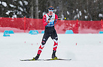 Prince George, B.-C., 16 February/2019  - Mark Arendz wins the bronze medal in the men's standing middle distance biathlon on day 01 of the 2019 World Para Nordic skiing Championships in Prince George, B.C. Photo Bob Frid/Canadian Paralympic Committee.