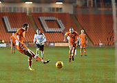 04/12/2018 FA Youth Cup 3rd Round Blackpool v Derby County<br /> <br /> Nathan Shaw penalty saved