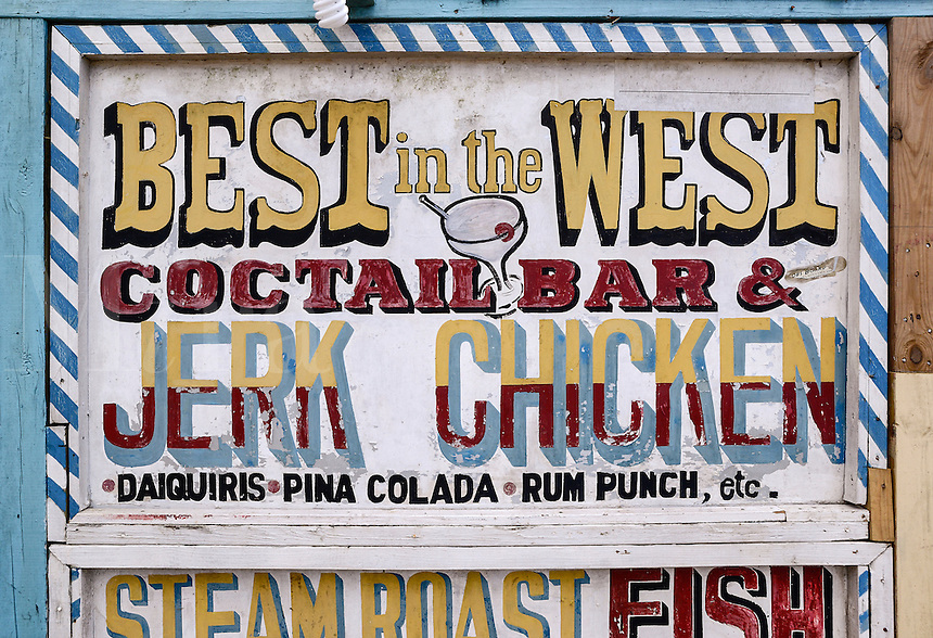 Best in the West jerk chicken restaurant, Negril, Jamaica
