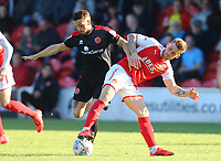 Fleetwood Town&rsquo;s Conor McAleny and Florent Cuvelier <br /> <br /> Photographer Leila Coker/CameraSport<br /> <br /> The EFL Sky Bet League One - Fleetwood Town v Walsall - Saturday 5th May 2018 - Highbury Stadium - Fleetwood<br /> <br /> World Copyright &copy; 2018 CameraSport. All rights reserved. 43 Linden Ave. Countesthorpe. Leicester. England. LE8 5PG - Tel: +44 (0) 116 277 4147 - admin@camerasport.com - www.camerasport.com