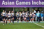 Kazakhstan plays Thailand during the17th Asian Games 2014 Rugby Womens Sevens tournament on October 01, 2014 at the Namdong Asiad Rugby Field in Incheon, South Korea. Photo by Alan Siu / Power Sport Images