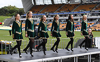 Irish dancers.<br /> NRL Premiership. Vodafone Warriors v Gold Coast Titans. Mt Smart Stadium, Auckland, New Zealand. March 17 2018. &copy; Copyright photo: Andrew Cornaga / www.Photosport.nz