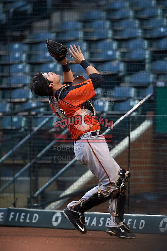 San Francisco Giants Matt Winn (12) during an instructional league game against the Arizona Diamondbacks on October 16, 2015 at the Chase Field in Phoenix, Arizona.  (Mike Janes/Four Seam Images)