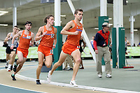 WINSTON-SALEM, NC - FEBRUARY 07: Jack Guyton #7, Marshall Dillon #5, and Hugh Brittenham #13 of the University of Florida run as a pack in the Men's 1 Mile Run at JDL Fast Track on February 07, 2020 in Winston-Salem, North Carolina.