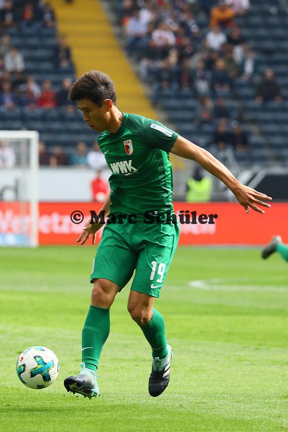 Ja-Cheol Koo (FC Augsburg) - 16.09.2017: Eintracht Frankfurt vs. FC Augsburg, Commerzbank Arena