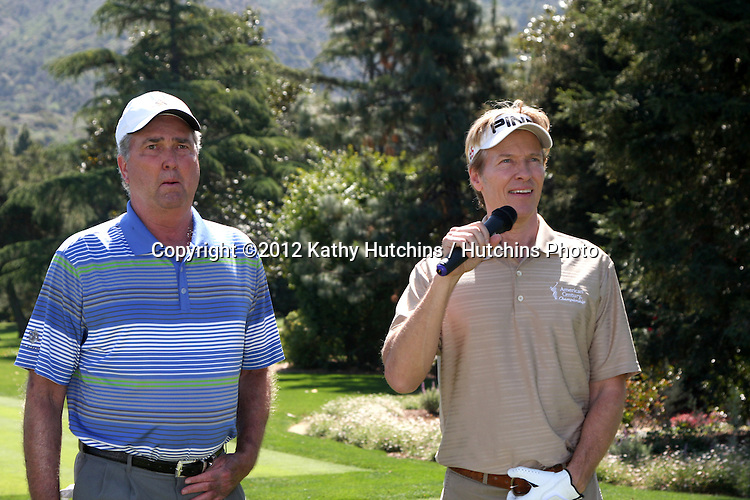 LOS ANGELES - APR 16:  Dennis Wagner, Jack Wagner at the The Leukemia & Lymphoma Society Jack Wagner Golf Tournament at Lakeside Golf Course on April 16, 2012 in Toluca Lake, CA