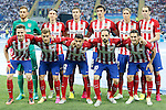 Atletico de Madrid's team photo with Jan Oblak, Filipe Luis, Gabi Fernandez, Stefan Savic, Fernando Torres, Diego Godin, Saul Niguez, Antoine Griezmann, Augusto Fernandez, Juanfran Torres and Koke Resurrecccion during UEFA Champions League 2015/2016 Final match.May 28,2016. (ALTERPHOTOS/Acero)