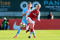 Beth Mead of Arsenal and Ellie Stewart of Sunderland during Arsenal Women vs Sunderland AFC Ladies, FA Women's Super League FA WSL1 Football at Meadow Park on 12th November 2017