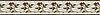 "6"" Juniper border, a hand-cut stone mosaic, shown in polished Rosa Verona, Aegean Brown, Salmon Moss, Montevideo, and Calacatta Tia."