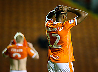 Blackpool's Michael Nottingham rues a missed opportunity<br /> <br /> Photographer Alex Dodd/CameraSport<br /> <br /> The EFL Checkatrade Trophy Northern Group C - Blackpool v West Bromwich Albion U21 - Tuesday 9th October 2018 - Bloomfield Road - Blackpool<br />  <br /> World Copyright &copy; 2018 CameraSport. All rights reserved. 43 Linden Ave. Countesthorpe. Leicester. England. LE8 5PG - Tel: +44 (0) 116 277 4147 - admin@camerasport.com - www.camerasport.com