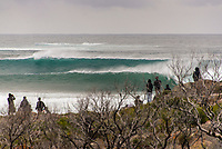 MARGARET RIVER, Western Australia/AUS (Friday, April 13, 2018) - After back-to-back lay days, the opening of the Margaret River Pro did not disappoint today as the world&rsquo;s best surfers took on heavy six-to-eight foot (1.8 - 2.7 metre) conditions at North Point. North Point, the backup event site known for some of the longest and most intense barrels in the world, challenged the surfers in the first seven heats of men&rsquo;s Round 1 at Stop No. 3 on the World Surf League (WSL) Championship Tour. <br /> <br /> Reigning, two-time WSL Champion John John Florence (HAW) found redemption in his opening heat, overcoming wildcard Mikey Wright (AUS), who famously eliminated him in last place at Stop No. 1 on the Gold Coast earlier this year. It was bound to be a monumental heat as the reigning Margaret River Pro event winner needed to regain his footing against Wright and 2018 CT Rookie Wade Carmichael (AUS). All three competitors found incredible waves, but it was Florence whose finesse and timing in the tube saw him take the win with a 14.60 heat total (out of a possible 20).  <br />  Photo: joliphotos.com