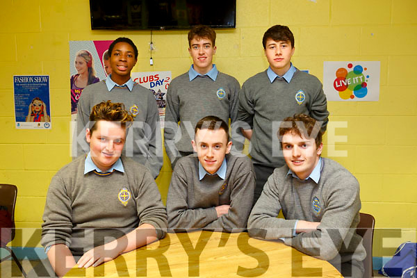 KERRY SCIENCE: Students from CBS the Green  who participated in the Senior science quiz at Tralee IT on Thursday evening pictured here are Front l-r Eugene Buckley, Stephan Gannon, Hugh Healy, Back l-r Nosa Aharogunmwonyi, Darragh O'Brien and Michael Scanlon