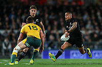 Aaron Smith in action during the Bledisloe Cup and Rugby Championship rugby match between the New Zealand All Blacks and Australia Wallabies at Eden Park in Auckland, New Zealand on Saturday, 25 August 2018. Photo: Simon Watts / lintottphoto.co.nz