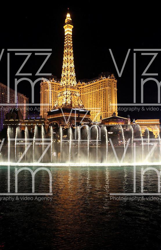 LAS VEGAS-ESTADOS UNIDOS. La fuente de Bellagio de Las Vegas, sitio mas visitado por  turistas y residentes americanos. Photo: VizzorImage