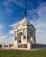 Gettysburg National Military Park, PA<br /> Evening light on the Pennsylvania Memorial on Cemetery Ridge