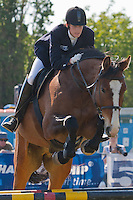 Germany's Lena Schoneborn competes during the Modern Pentathlon Women's World Cup held in Budapest, Hungary on May 07, 2011. ATTILA VOLGYI
