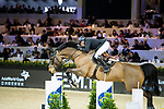 John Whitaker of Great Britain riding Crumley competes in the Hong Kong Jockey Club Trophy during the Longines Masters of Hong Kong at the Asia World Expo on 09 February 2018, in Hong Kong, Hong Kong. Photo by Ian Walton / Power Sport Images