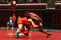 26 February 2006: Stanford's Juston Johnson during the Pac-10 Wrestling Championships at Maples Pavilion in Stanford, CA.