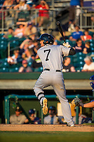 Tyler Smith (7) of the Jackson Generals bats during a game between the Jackson Generals and Chattanooga Lookouts at AT&T Field on May 7, 2015 in Chattanooga, Tennessee. (Brace Hemmelgarn/Four Seam Images)