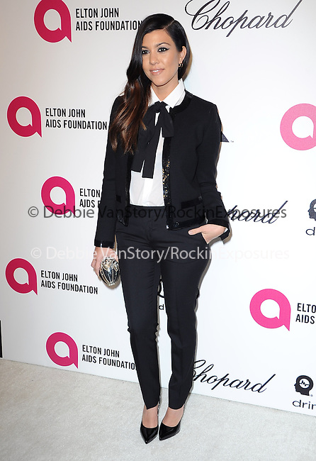 Kourtney Kardashian   attends the 2014 Elton John AIDS Foundation Academy Awards Viewing Party in West Hollyood, California on March 02,2014                                                                               © 2014 Hollywood Press Agency