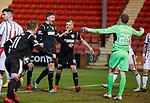 Jack Baird celebrates his goal with St Mirren