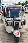 The mototaxi is an economical form of transportation throughout Mexico.  San Jeronimo Tlacochahuaya, Mexico.