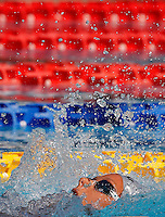 Trofeo Settecolli di nuoto al Foro Italico, Roma, 15 giugno 2013.<br /> Federica Pellegrini, of Italy, competes in the women's 200 meters backstroke at the Sevenhills swimming trophy in Rome, 15 June 2013.<br /> UPDATE IMAGES PRESS/Isabella Bonotto