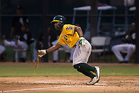 AZL Athletics shortstop Cobie Vance (16) starts down the first base line during an Arizona League game against the AZL Athletics at Camelback Ranch on July 15, 2018 in Glendale, Arizona. The AZL White Sox defeated the AZL Athletics 2-1. (Zachary Lucy/Four Seam Images)