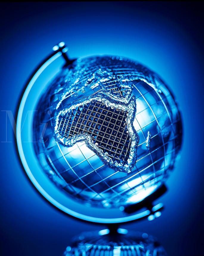 Blue globe.