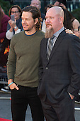 London, UK. 26 September 2016. Actor Mark Wahlberg with Mike Williams, who he plays in the movie. Red carpet arrivals for the European Premiere of the Hollywood movie Deepwater Horizon in Leicester Square. The movie is based on the 2010 Deepwater Horizon explosion and oil spill in the Gulf of Mexico. © Bettina Strenske/Alamy Live News