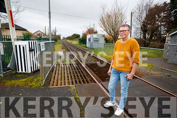 Breda O'Shea, Ballinorig Estate, Tralee, heard young children on the Rail Tracks at the end of her garden.