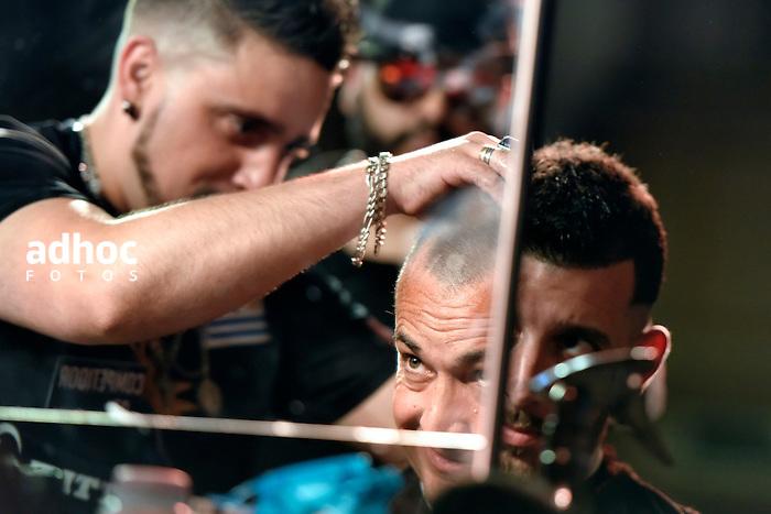 Nicolas Celaya/ URUGUAY/ MONTEVIDEO/ HOTEL RADISSON<br /> En la foto, Primera Batalla de Barberos realizada en el Hotel Radisson. Nicol&aacute;s Celaya /adhocFOTOS<br /> 2016 - 7 de noviembre - lunes