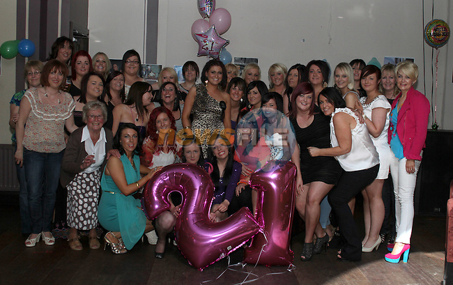 Niamh O'Connell with all the girls celebrating her 21st in O'Neill's of Duleek...(Photo credit should read www.newsfile.ie)....This Picture has been sent you under the conditions enclosed by:.Newsfile Ltd..The Studio,.Millmount Abbey,.Drogheda,.Co Meath..Ireland..Tel: +353(0)41-9871240.Fax: +353(0)41-9871260.GSM: +353(0)86-2500958.email: pictures@newsfile.ie.www.newsfile.ie.