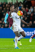 Bafetibis Gomis of Swansea in action during the Barclays Premier League match between Swansea City and West Ham United played at the Liberty Stadium, Swansea  on December 20th 2015