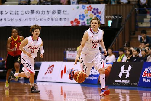 (L to R) <br /> Yuko Oga, <br /> Asami Yoshida (JPN), <br /> JUNE 30, 2013 - Basketball : <br /> International Basketball Japan Games 2013 <br /> between Japan Women's 78-61 Mozambique Women's <br /> at 2nd Yoyogi Gymnasium, Tokyo, Japan. <br /> (Photo by YUTAKA/AFLO SPORT)