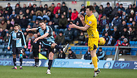 Stephen McGinn of Wycombe Wanderers hits a shot at goal during the Sky Bet League 2 match between Wycombe Wanderers and Bristol Rovers at Adams Park, High Wycombe, England on 27 February 2016. Photo by Andrew Rowland.