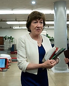 United States Senator Susan Collins (Republican of Maine) passes through the senate subway on Capitol Hill in Washington D.C., U.S. on July 30, 2019. <br /> <br /> Credit: Stefani Reynolds / CNP