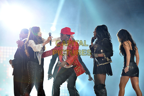 La toya Jackson,Ne-Yo and Alexandra Burke..Michael Forever Tribute Concert at The Millenium Stadium, Cardiff, Wales, UK 8th October 2011.performing live in on stage .CAP/MAR.© Martin Harris/Capital Pictures.