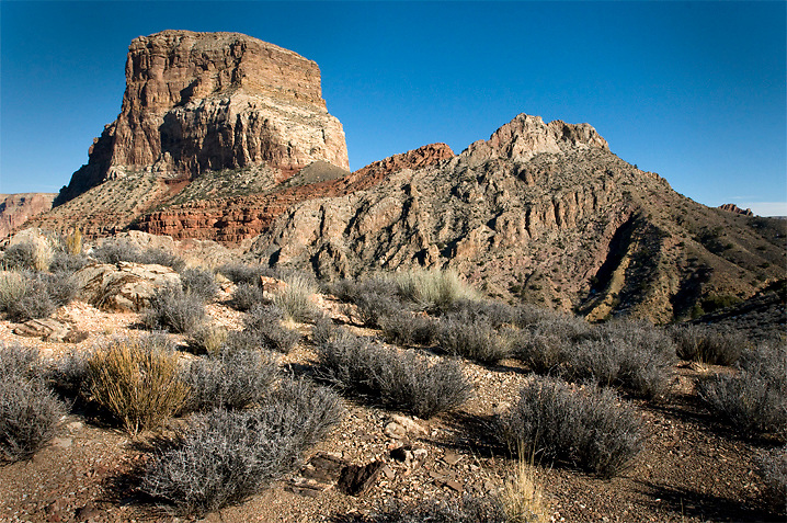 Kwagunt Butte is one of many very interesting geological features in this region of Grand Canyon.