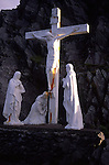 Crucifix with Christ and figures, Slea Head, Dingle, County Kerry, Ireland