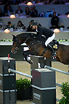 Marco Kutscher on Van Gogh competes and wins Longines Grand Prix at the Longines Masters of Hong Kong on 21 February 2016 at the Asia World Expo in Hong Kong, China. Photo by Li Man Yuen / Power Sport Images