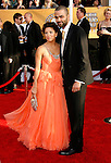 LOS ANGELES, CA. - January 25: Actress Eva Longoria Parker and NBA Player Tony Parker arrive at the 15th Annual Screen Actors Guild Awards held at the Shrine Auditorium on January 25, 2009 in Los Angeles, California.