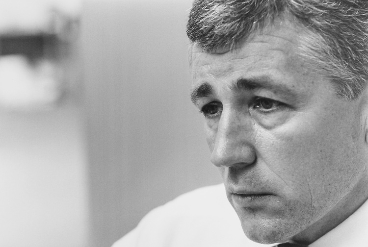 Sen. Chuck Hagel, R-Nebr. 1998 (Photo by Maureen Keating/CQ Roll Call via Getty Images)